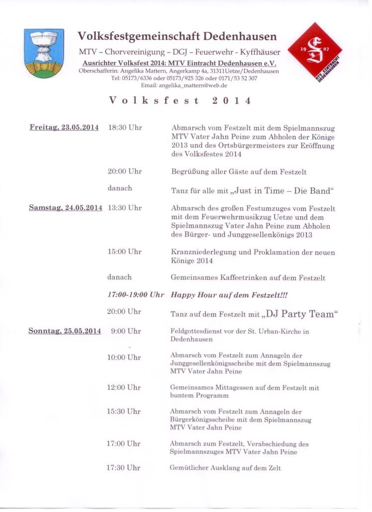 Volksfestplakat 2014